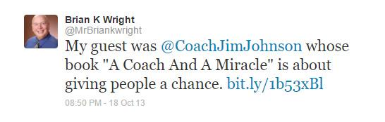 Brian K. Wright Tweet