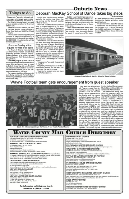 Wayne County Mail Article