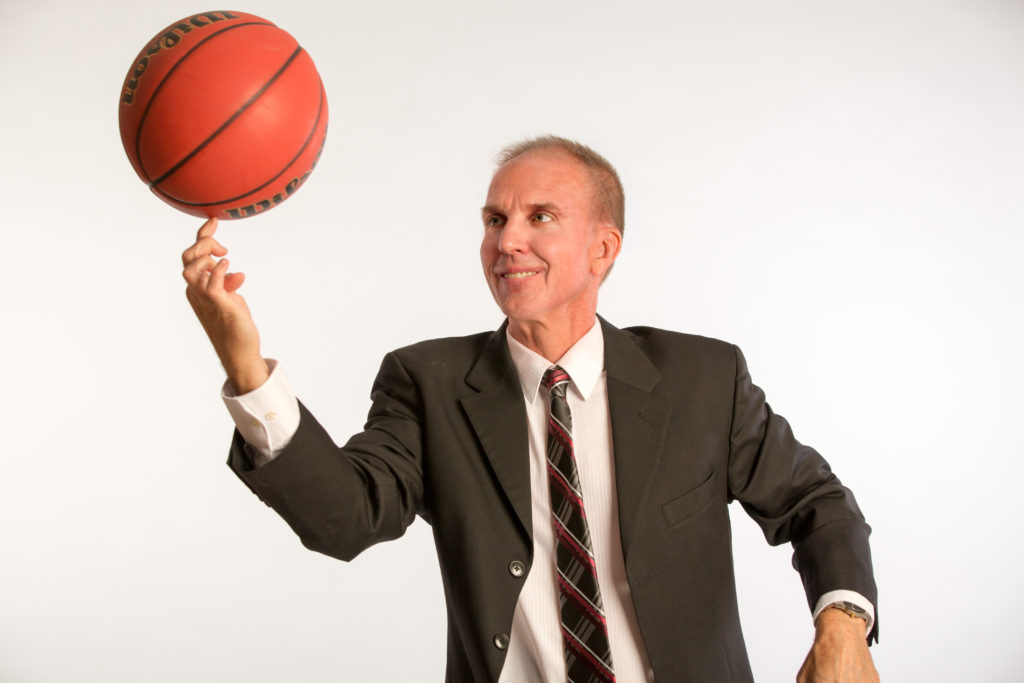 Jim Johnson High Res Suit with Spinning Basketball