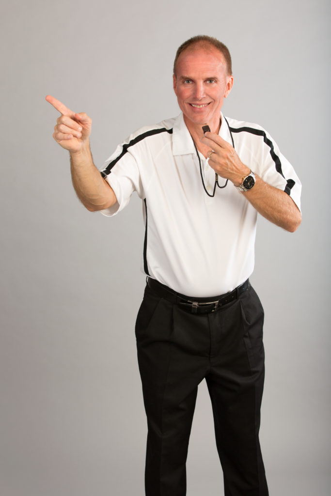 Jim Johnson High Res White Shirt with Whistle